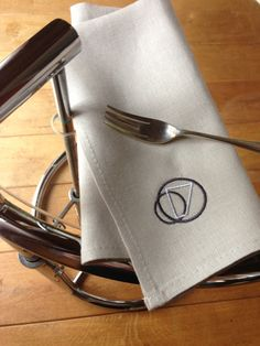 Cool Irish linen napkins from my Homage to Eileen Gray Collection for more info go to http://www.AgnesHDesign.com