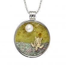 Galaxia Pearl Pendant-Jewelry by Galatea- #galatea #shopinde #galateajewelrybyartist #GalaxiaCollection