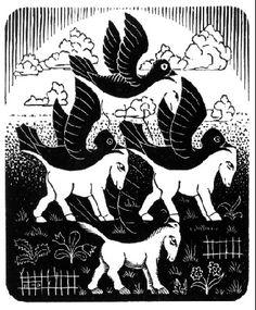 Horses and Birds - M.C. Escher - WikiArt.org