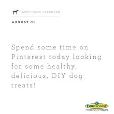 Spend some time on Pinterest today looking for some healthy, delicious, #DIY #dog #treats!