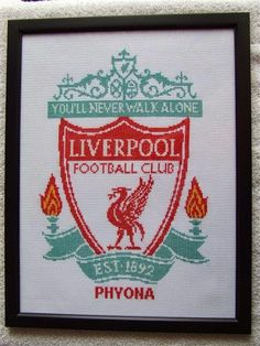***RELATED: STEVEN GERRARD CROSS-STITCH PATTERN *** CLICK HERE FOR INFORMATION ON HOW TO ORDER ANY ONE OF THESE PATTERNS... Liverpool Logo, Cross Stitch Patterns, Steven Gerrard, Image, Counted Cross Stitch Patterns