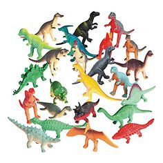 Fun Express Vinyl Mini Dinosaurs Figures 72 Pieces for sale online Dinosaur Party Favors, Dinosaur Birthday Party, Birthday Party Favors, 3rd Birthday, Birthday Ideas, Party Favours, Birthday Cakes, Birthday Parties, Dinosaur Party Supplies