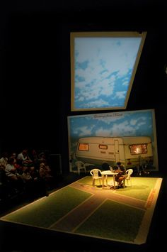 Beautiful set design by Chloe Lamford - Small Miracle (by Neil D'Souza/Tricycle Theatre)