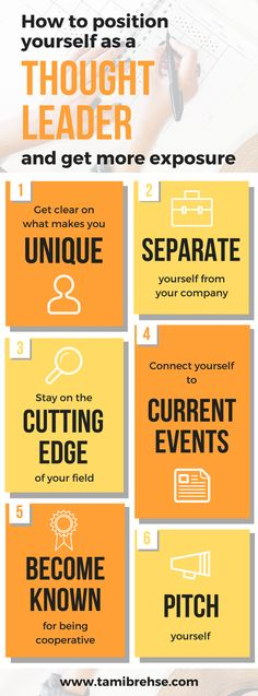 Becoming known as a thought leader can bring you more business, increased website traffic and added credibility. Her are 6 steps to get there.
