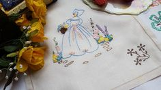 Gogeous Vintage Embroidered Crinoline Lady by TheVintageLinenChest