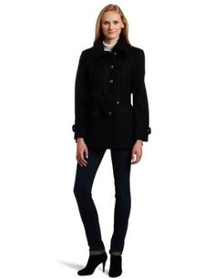 Nautica Women's Button Front Jacket, Black, Large Nautica. $87.50