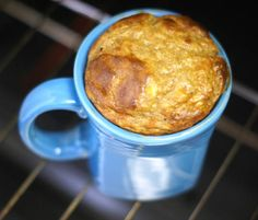 Peanut Butter Banana Mug Cake  serves 1    Ingredients:    1 very ripe banana (with brown spots!)  2 Tablespoons natural peanut butter, or nut butter of choice  1 whole egg  1/4 teaspoon baking soda  dash of cinnamon (optional)