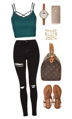 """Outfit #12"" by ancara on Polyvore featuring Topshop, Shinola, Sonix and Aéropostale"