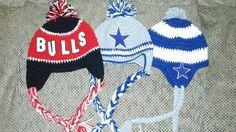 Chicago bulls and dallas cowboys crochet hats www.facebook.com/inspiredbykallie