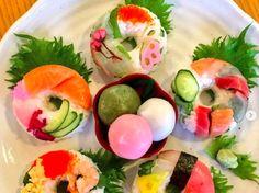 モザイク寿司に負けず劣らず、華やかで可憐な寿司ドーナツ