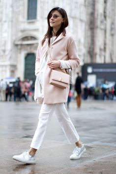 Elisa Bersani wearing our jacket + trousers combo.