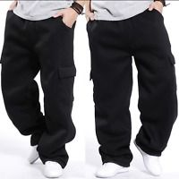 Cargo Mens Casual Baggy Hip Hops Long Pants Trousers Athletic Sweatpants Thick