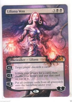Liliana Vess Hand Painted Altered Art Extended Art Magic Gathering MTG M15 | eBay