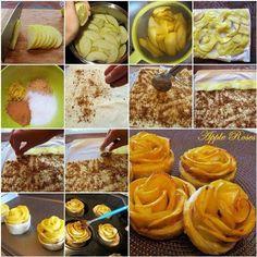 Pour passer un bon Desserts, nous vous proposons une recette de FLEUR DE POMMES . recette de cuisine, facile et rapide, par Les gourmands mediterraneens