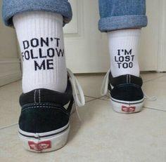 grafika lost, vans, and socks