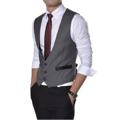 Partiss Herren Weste V-Neck Business Vest Gentleman Style Freizeit Guenstig (48, Grau) Partiss http://www.amazon.de/dp/B00XBPIJXQ/ref=cm_sw_r_pi_dp_pxt1vb1WX0Y83