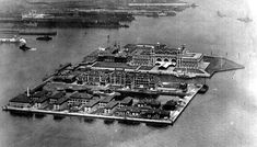 The first Ellis Island Immigration Station, opened in 1892, burned down completely in a fire in 1897. This photo is of the second Immigration Station, opened in December of 1900.