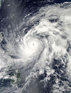 Typhoon Sanba (17W) in the Philippine Sea