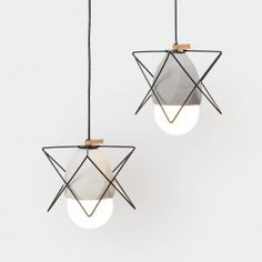 Buy Timber Circular Concrete Pendant Light Online - By Living