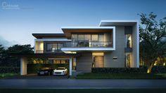 5 Handsome Clever Tips: Modern Contemporary Color Scheme contemporary house ranch. Villa Design, Facade Design, Exterior Design, Archi Design, 3d Design, House Front Design, Modern House Design, Residential Architecture, Modern Architecture