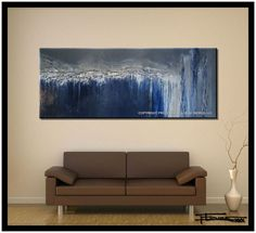 CRYSTAL BLUE PERSUASION 60 X 24 X 1.5 Inch 48 X 24 X 1.5 Hand textured and embellished, Limited Edition Giclee - Edition size of 100. Each piece is made entirely here in my studio, it is signed and numbered and comes with a registered certificate of authenticity. It comes ready to hang for mainland US and Canada, all other locations will receive it rolled. Gloss finish, Edges painted black. Each piece ships in its own custom made box for safety during shipping. I ship via Fed Ex ground to…