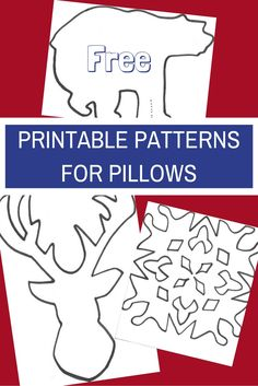 DIY Pillow Slipcover Tutorial! Looking to spruce up those boring couch pillows in hopes of glamorous holiday ones? Or perhaps you wish to change them out for additional seasons? Follow this step by step tutorial to see how to save oodles of money by making your own slipcovers! Enjoy these FREE templates/patterns to make winter/Christmas themed designs.