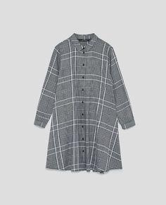 CHECKED MINI DRESS from Zara
