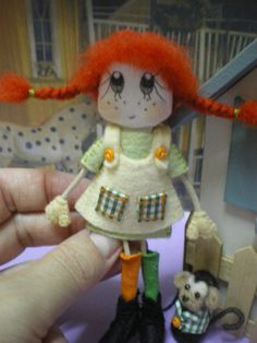 Pippi Långstrump una linda muñeca hecha a mano por SusinasDream