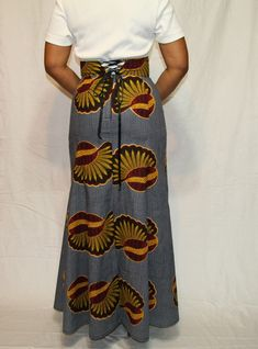 African Inspired High Waist Trumpet Skirt by BeauJeBoutique,