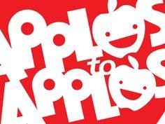 Apples to Apples logo design concept for Mattel