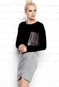 Sleek Draped Skirt | FOREVER21 Draped in fashion #ForeverHoliday #WishPinWin