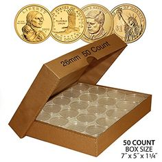 Coin: 50 Presidential $1 Direct-Fit Airtight 26Mm Coin Capsule Holder W/ Box