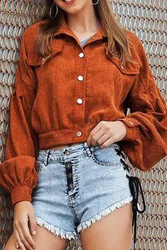 Autumn Winter jacket high-quality coat Women outwear & coats female Corduroy stitching versatile short casual Loose jackets - #coatsforwomen #coatsforwomenwinter #coatsforwomencasual #coatsforwomenclassy #coatsforwomenclassyelegant #coatsjackets #coatsjacketswomen #coatsforwomen2020 #coatsforwomen2020fashiontrends #streettide Winter Jackets Women, Coats For Women, Plus Size Sweaters, Corduroy Jacket, Jacket Pattern, Sweater Coats, Types Of Sleeves, Short Jackets, Size Chart