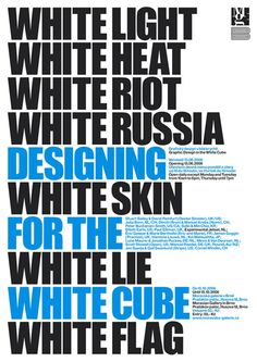 GRAPHIC DESIGN IN THE WHITE CUBE / Experimental Jetset