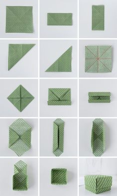DIY: origami from fabric remnants + instructions for simple boxes - Sophie Bastelideen - DIY: Simple origami boxes made of fabric - Origami Design, Instruções Origami, Origami Yoda, Origami Star Box, Origami Fish, Origami Butterfly, Origami Stars, Origami Flowers, Simple Origami