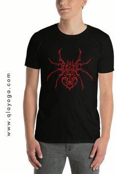Spider Shirt, Spider Top, Creepy Spider Tshirt, Red Spider, Halloween Spider Shirt, Halloween Shirt, Retro Spider Logo Graphic T-shirt Halloween Spider, Halloween Shirt, New T, Creepy, Unisex, Logo, Retro, Mens Tops, T Shirt