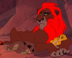 Just a random image of young Sarabi,Mufasa,Zira, and Scar as cubs with Sarabi's mom and Uru on the rock^^. This is just a memorable image of them all together before the war between Outsiders and P...