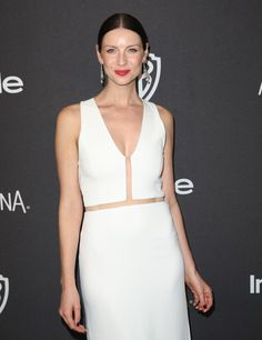 Caitriona Balfe Outlander Cast at the InStyle/Warner Brothers Golden Globes After Party