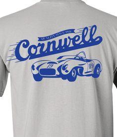 Cornwell vintage race shirt design.