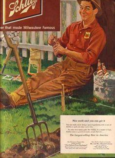 1951 Schlitz Beer print ad vintage decor by catchingcanaries Vintage Advertisements, Vintage Ads, Vintage Decor, Vintage Food, Schlitz Beer, American Beer, Beer Poster, Beer Art, Beer Tasting