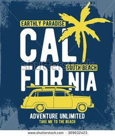 California typography for t-shirt print , vector illustration