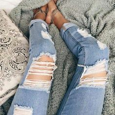 Forever in love with ripped jeans