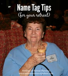 Day 25 – Name Tag Tips for Your Retreat
