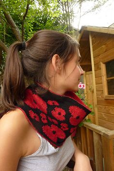 Remember Cowl by Nathan Taylor | malabrigo Sock in Ravelry Red and Black