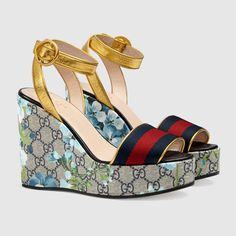 GG Blooms platform sandal