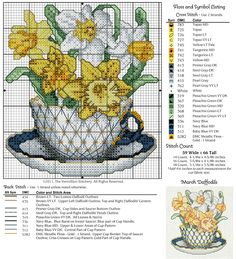 Cross-stitch Pretty Flowers...   Gallery.ru / Photo # 11 - 12 in cups - irisha-ira