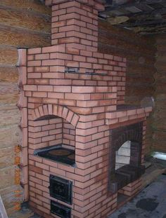 An example of a bespoke fireplace/oven made from brick.  York Handmade are able to offer bricks to achieve this look.