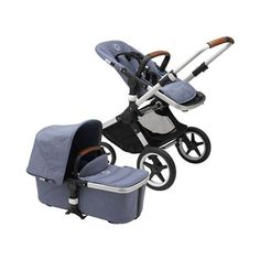 Bugaboo Fox Complete Stroller in Blue Melange Color City Stroller, Jogging Stroller, Best Baby Strollers, Double Strollers, Fox Fabric, Baby Bouncer, Sun Canopy, Kiddie Pool, Go Outdoors
