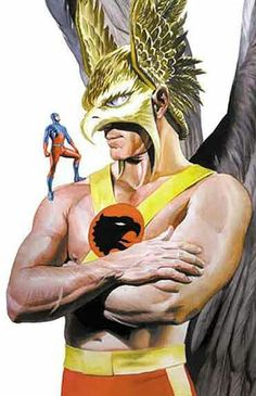 Hawkman & Atom by Alex Ross