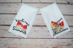 Gnome Summer Watermelon Welcome Kitchen Towels~ Welcome Summer Waffle Fruit Melon Kitchen Decor ~ Bridal Shower Gift Idea Bridal Shower Gifts, Baby Shower Gifts, Kitchen Towels, Kitchen Decor, Whimsical Kitchen, Decorative Hand Towels, Baby Boy Bibs, Welcome Summer, Bee Gifts